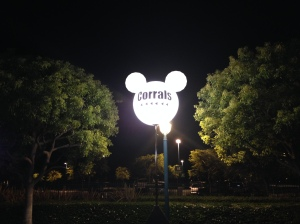 Follow Mickey to the starting corrals