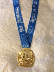10K Finisher's Medal and ribbon