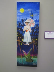 My favorite fan art piece -- Mary Poppins done as if from the haunted mansion's stretching room (with Peter Pan thrown in as well)