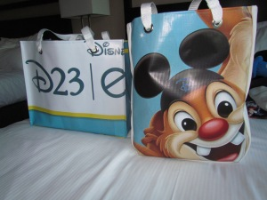 Bags made from recycled D23 Expo 2011 Banners