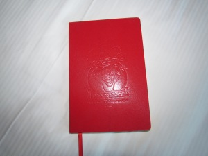 A journal -- embossed D23 design on cover is hard to make out in this photo.   I'll be taking notes in this all weekend.