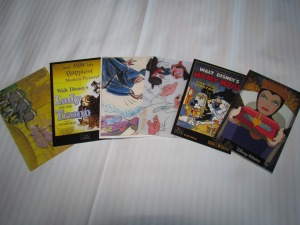 A set of Disney Collector Cards.   Not sure if these are unique to the Expo or are copies of already released cards.
