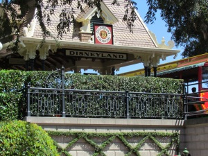 The tour starts across from the Disneyland Train Station