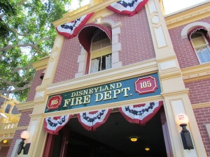 First stop:  The Fire Department.   Walt's private apartment, above, is where we will conclude the tour.