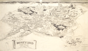 Herb Ryman's Disneyland pencil drawing, done over a weekend to show to investors.